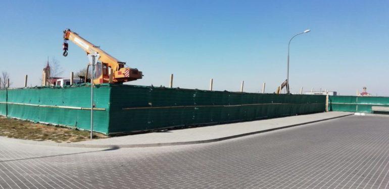 строительство торогово центра в г. Скидель